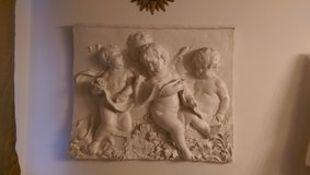 Large Angel Cherubs wall Hanging Plaque Shabby Chic French in Chicago, Illinois