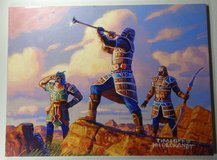 """HILDEBRANDT BROTHERS - Original Signed Painting """"Reveille Squad"""" - Magic The Gathering Prophecy in Fort Leonard Wood, Missouri"""