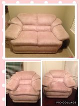 Ivory microfiber loveseat with 2 chairs in Fort Rucker, Alabama