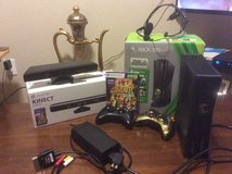 XBOX 360  plus 250GB Drive w/KNECT sensor & KNECT w/ Adventures 360 game included in Lawton, Oklahoma