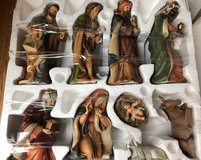 Collectors Edition Hand Painted Porcelain Nativity Set 9 Pieces in Warner Robins, Georgia