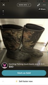 hunting fishing muck boots size:9-9 1/2 in Cherry Point, North Carolina