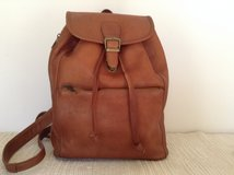 "Handcrafted by""InnovativeJournaling ij""Backpack in genuine natural tone leather in Yucca Valley, California"