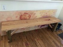 solid wood bench in Fort Bragg, North Carolina