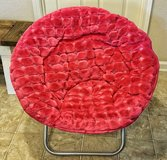 Faux Fur Saucer Chair (Pink) in Huntsville, Alabama