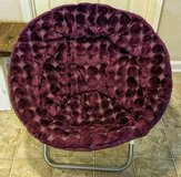 Faux Fur Saucer Chair (Purple) in Huntsville, Alabama