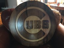 Hand Carved Cubs sign 24'' x 1.5'' heavy, one of a kind in Bolingbrook, Illinois