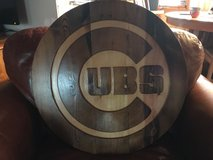 Hand Carved Cubs sign 24'' x 1.5'' heavy, one of a kind in DeKalb, Illinois
