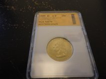 1999d CT statehood quarter sgs graded ms70  $5800 interested text 931 218 8243 in Fort Campbell, Kentucky