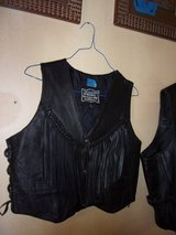 First Large Genuine Leather Vest in Fort Riley, Kansas