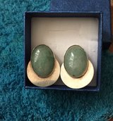 Jade sterling clip earrings in 29 Palms, California