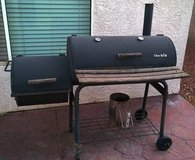 Charcoal BBQ grill with smoke chamber in Las Vegas, Nevada