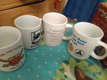 Military coffee mugs,5 various(one came after the photo) in Stuttgart, GE