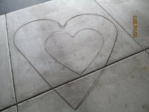 Pair of Wire Heart Frames in Chicago, Illinois