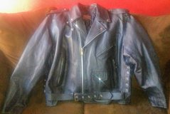 Genuine Leather Motorcycle Jacket (Mens sz 54) in Travis AFB, California