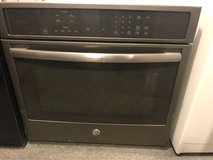 GE Black stainless single oven electric in Kingwood, Texas
