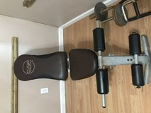 Adjustable weight bench and weights in Leesville, Louisiana