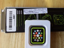 Case cover Apple Watch 42mm black and volt yellow sport silicone in Fort Campbell, Kentucky