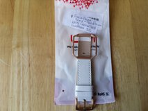 Fitbit blaze band and frame. White leather band gold frame large in Fort Campbell, Kentucky
