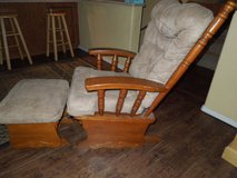 Sliding rocking chair with sliding foot stool in Alamogordo, New Mexico