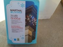 Outdoor Christmas lights new in box 8 boxes + clips. Over 50 ft length. in 29 Palms, California