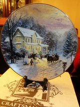 """BEAUTIFUL!!  Thomas Kinkade """"Sleighride Home"""" Collector's Plate  BRAND NEW!! in Naperville, Illinois"""