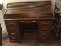 Solid Oak roll top desk NEED GONE!!!! in Temecula, California