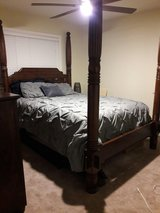 Queen sized canopy bed and matching dresser in Travis AFB, California