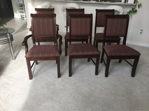 6 solid wood formal dining chairs in Kingwood, Texas
