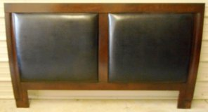 (HK-3) Solid Wood Upholstered Headboard (AUCTION) in The Woodlands, Texas