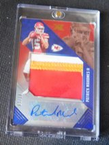 PATRICK MAHOMES RC THREE COLOR AUTO PATCH 7 OF 10 in Fort Bliss, Texas