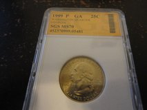 1999 p GA statehood quarter   in ms68 this coin is worth $5250 in Fort Campbell, Kentucky