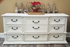 Refinished long 9 drawer dresser in Lockport, Illinois