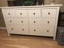 White Eight Drawer Dresser in Naperville, Illinois