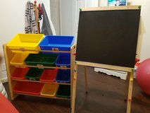 Toy storage and easel in Fort Campbell, Kentucky