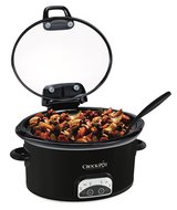 IOB Crock Pot 4.5 Quart Hinged Lid Programmable Slow Cooker Roast Brisket in Kingwood, Texas