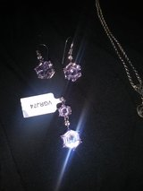 Gourgous Pink Sapphire Earrings and Pendant in Macon, Georgia