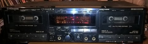 PIONEER CT-W550R Double-Cassette-Deck / Tape-Deck, Dolby B-C / HX Pro in Ramstein, Germany