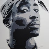 Oil Painting Tupac (hand painted) in Vicenza, Italy