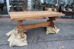 gorgeous solid oak monastery table in Spangdahlem, Germany