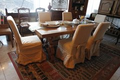 elegant solid oak dining room set with 6 chairs in Baumholder, GE