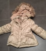 Girl toddler winter jacket with fuzzy hood in Ramstein, Germany