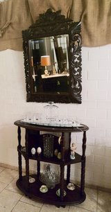 antique double facetted mirror with hand carved frame in Stuttgart, GE