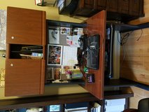 Cherry laminate desk with lighted hutch in Joliet, Illinois