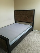 Ashley Queen size  box bed + mattress in Clarksville, Tennessee