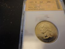 1999 d NJ statehood quarter interested text 931 218 8243 in Fort Campbell, Kentucky