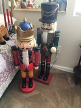 Christmas Nutcrackers one 4  ft tall one 3 foot tall in Vacaville, California