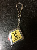 Vintage K-1 tools 3' measuring tape keychain in Bolingbrook, Illinois