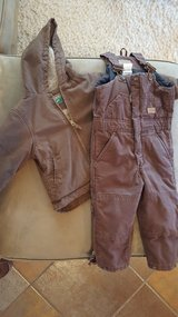 Kids Winter Overalls and Jacket in Ruidoso, New Mexico