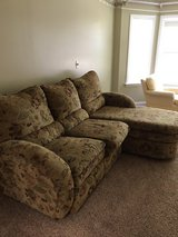 Gold Tapestry Couch in Cherry Point, North Carolina